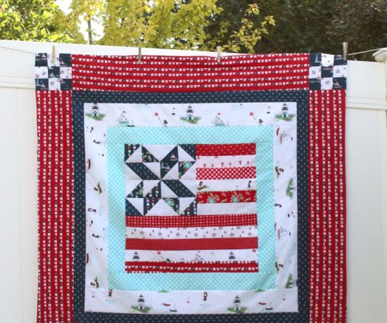 Red White and Blue Quilt by Amy Smart Diary of a Quilter