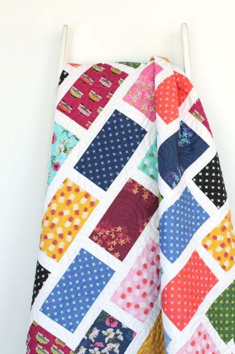 Precuts friendly quilt pattern: Brickyard by Amy Smart