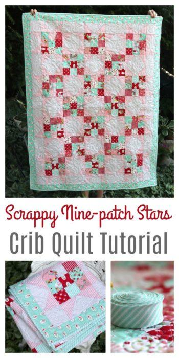 Precuts friendly short cut baby quilt tutorial