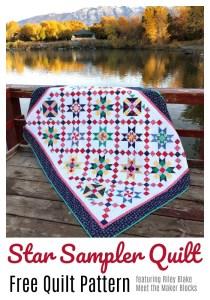 Free Quilt pattern - Star Sampler Quilt