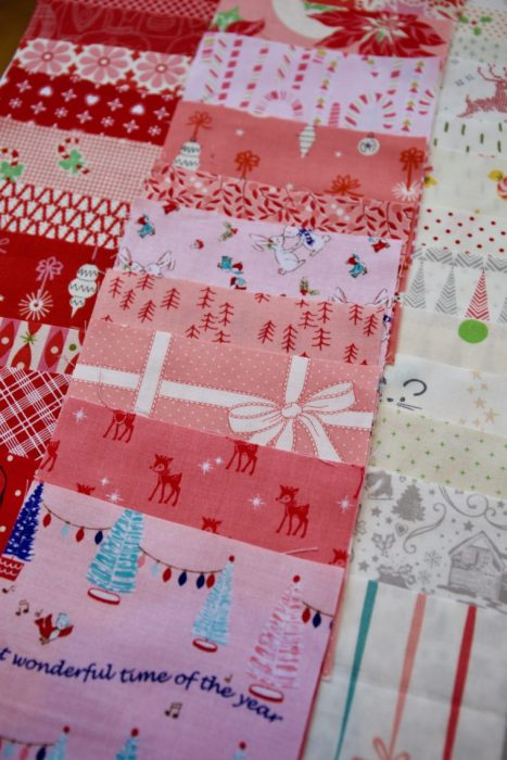 Scrappy Patchwork Christmas quilt tutorial by Maker Valley