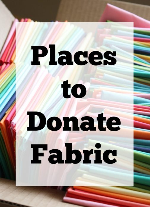 Places to Donate Fabric - a list of charities