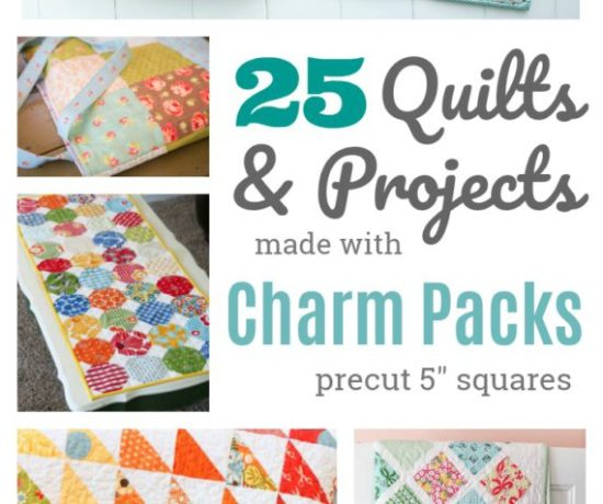 Free Charm Pack patterns for quilts and bags