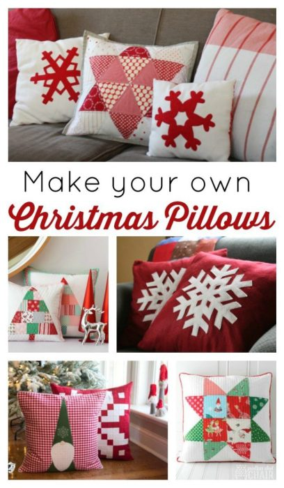 Make your own decorative Christmas Pillows with these fun tutorials and Ideas.