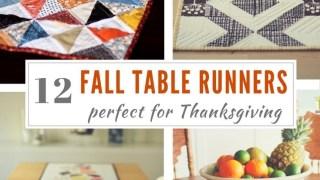 12 Table Runner Tutorials