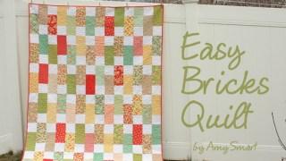 Easy Bricks Quilt Tutorial