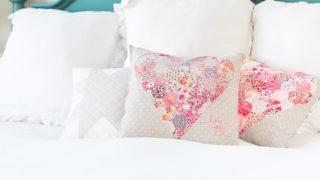 Liberty Hexagon Heart Pillow Tutorial