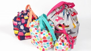 Lined Drawstring bags pattern