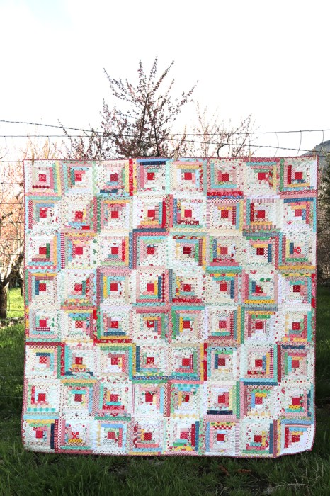 Vintage Inspired Log Cabin Quilt Diary Of A Quilter A Quilt Blog