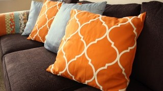 Throw Pillows from Pottery Barn Table Runner