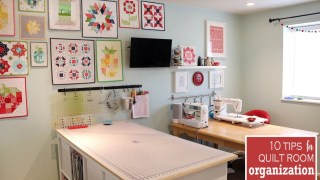 10 Tips to Organize your Sewing Room