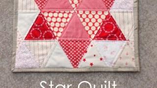 Triangle star quilt block tutorial
