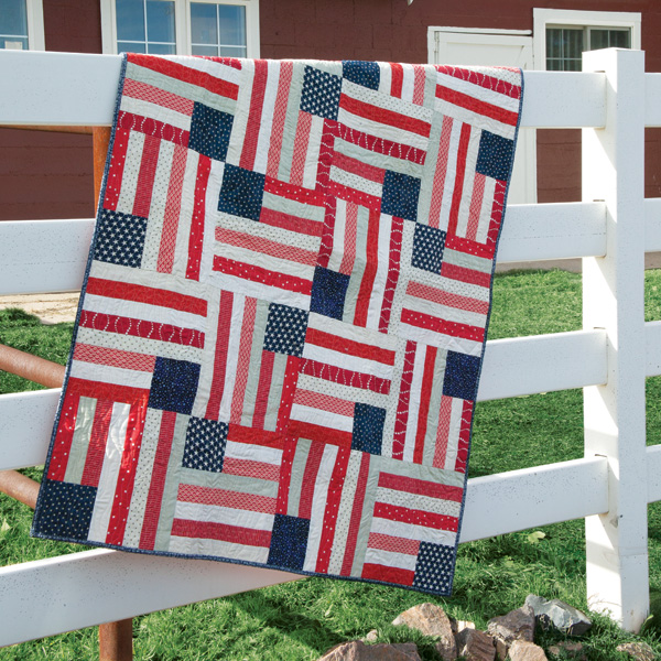 American Dream flag quilt pattern by Angela Pingel