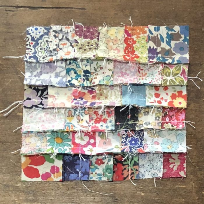 Scrappy Liberty Patchwork Pincushion by Guest May Chappell by popular quilting blog, Diary of a Quilter: image of pincushion tops.