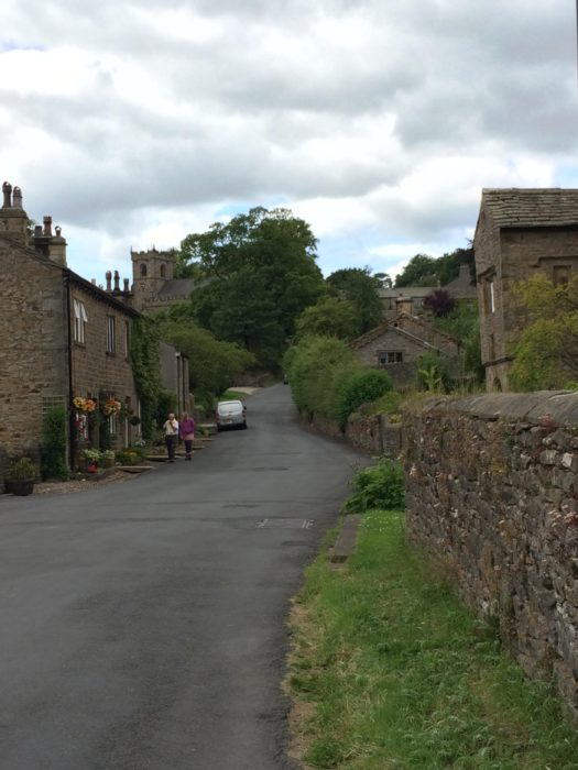 The Tale of a Pioneer Quilt, Cut in Two by popular quilting blog, Diary of a Quilter: image of a street in Downham, England.