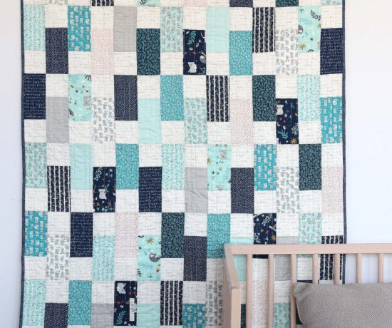fast and easy baby bricks quilt tutorial
