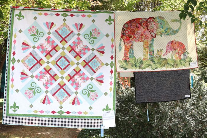 Garden of Quilts 2019 - Thanksgiving Point, Utah by popular quilting blog, Diary of a Quilter: image of quilts display outside in the Ashton Gardens at Thanksgiving Point.