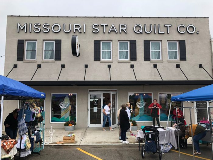 Birthday Bash at Missouri Star Quilt Company by popular quilting blog, Diary of a Quilter: image of the Missouri Star Quilt Company building.