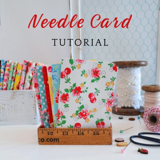 Fabric Covered Needle Card tutorial - perfect gift for a friend who sews