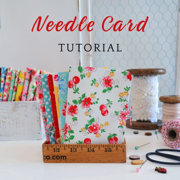 Fabric Covered Needle Card tutorial - perfect gift for a friend who sews | Fabric Covered Needle Cards - guest post by Sedef Imer by popular quilting blog, Diary of a Quilter: image of fabric covered needle cards books.