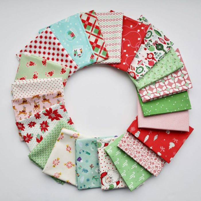 Welcome to the Patchwork Forest Quilt Along! by popular quilting blog, Diary of a Quilter: image of a Christmas quilt bundle by Maker Valley.