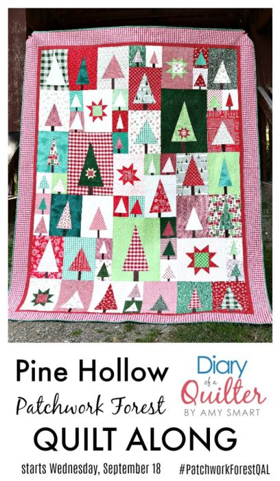 Brand new quilt pattern: Sugarhouse Star by popular Utah quilting blog, Diary of a quilter: image of a quilt along advertisement..
