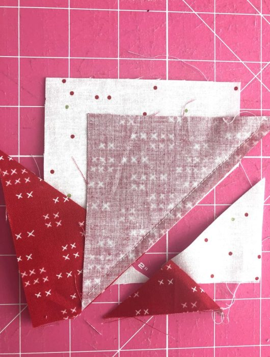 Adding points to Wonky Star Quilt Block   Pine Hollow Patchwork Forest Quilt Along Week 4 by popular Utah quilting blog, Diary of a Quilter: image of fabric for wonky star quilt block.