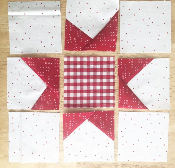 Pine Hollow Patchwork Forest Quilt Along Week 4 by popular Utah quilting blog, Diary of a Quilter: image of wonky star quilt block.