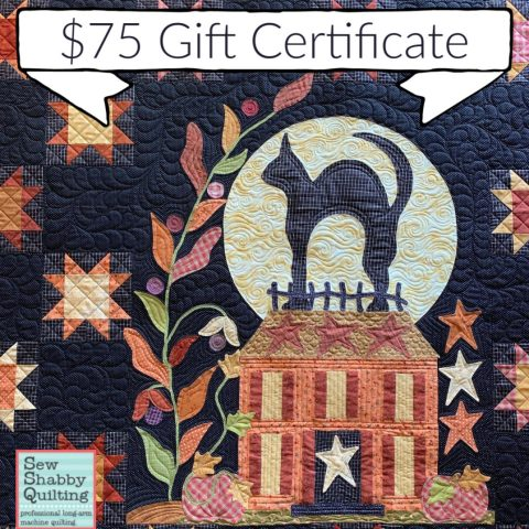 Pine Hollow Patchwork Forest Quilt Along Week 4 by popular Utah quilting blog, Diary of a Quilter: image of $75 gift certificate.