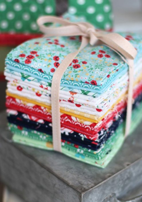 Sugarhouse Park Fabric Collection by Amy Smart by popular Utah quilting blog, Diary of a Quilter: image of a Sugarhouse Park fabric fat quarter bundle.