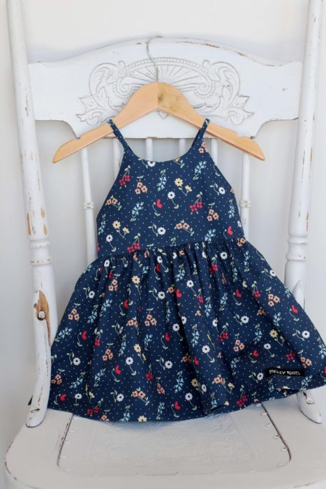 Sugarhouse Park Fabric Collection by Amy Smart by popular Utah quilting blog, Diary of a Quilter: image of an Amsterdam sundress made out of Sugarhouse Park fabric.