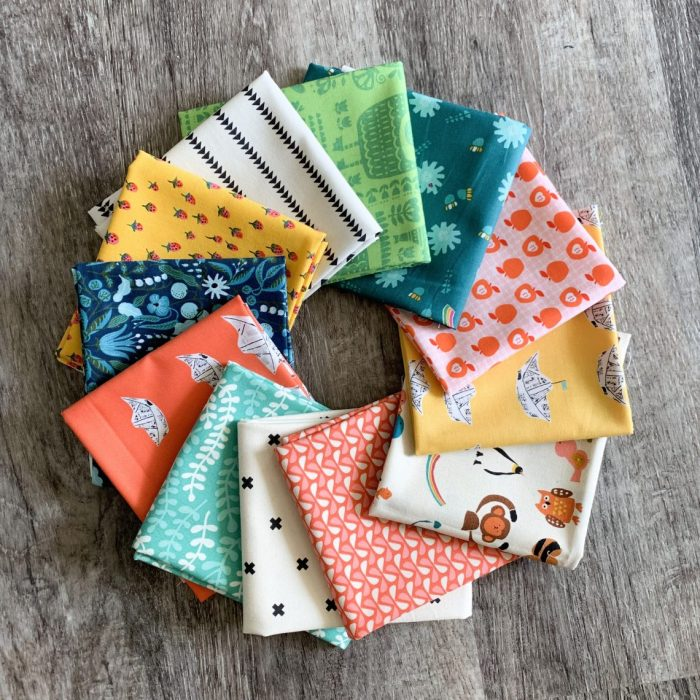 Fast & Easy Fat Quarter Quilt by popular Utah quilting blog, Diary of a quilter: image of a fat quarter fabric.