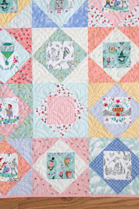 Baby Quilt made from traditional Economy Quilt Blocks