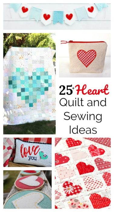 25 Heart and Quilt projects and sewing Ideas