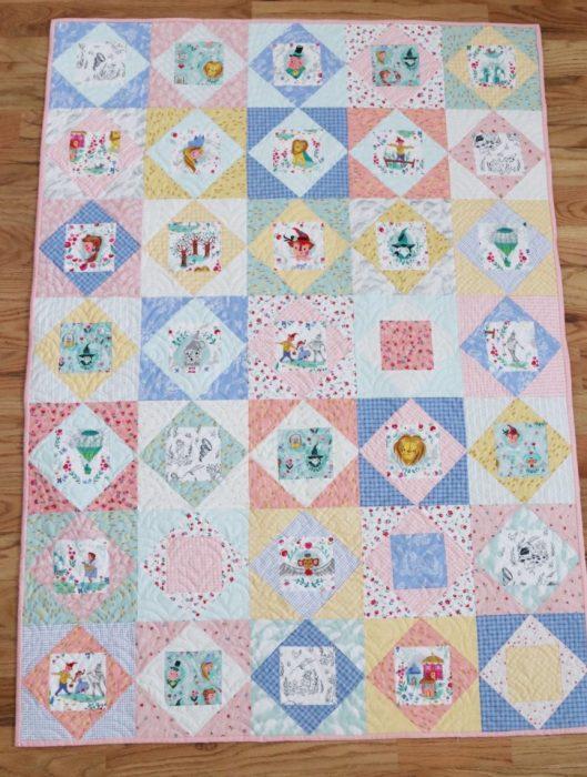 Baby Quilt with Economy quilt blocks