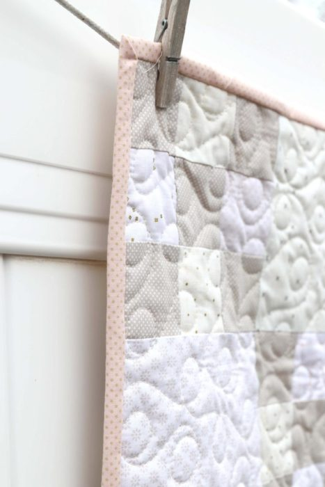 Low Volume Baby Quilt idea