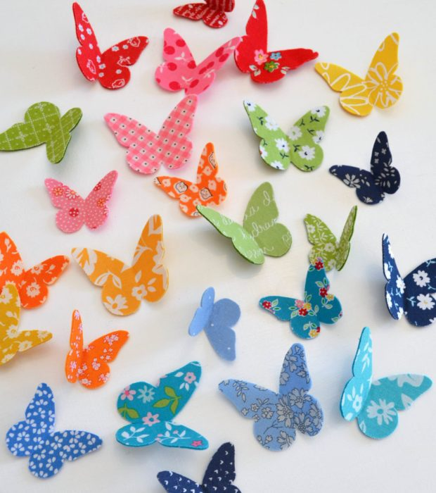 Tutorial: Make 3D fabric butterflies - tutorial for Diary of a Quilter