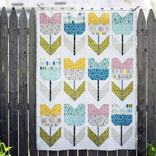 Free Spring Tulip quilt pattern