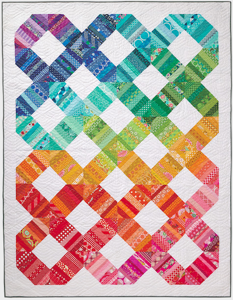Organize and Use your fabric scraps in this scrap happy design by Amy Smart for Love Patchwork and Quilting Magazine