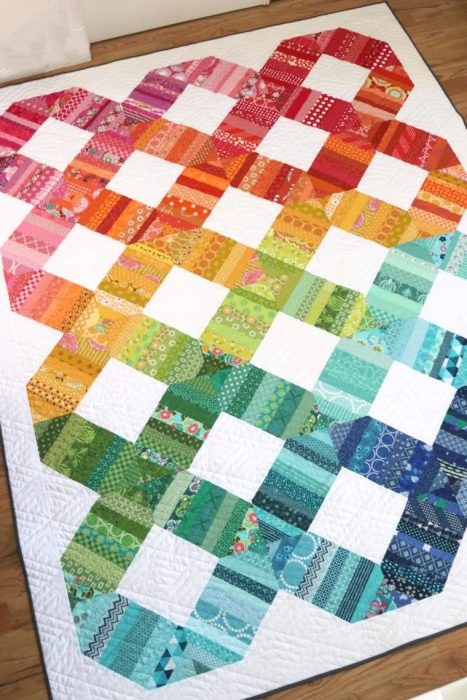 Rainbow Scrap quilt by Amy Smart - pattern