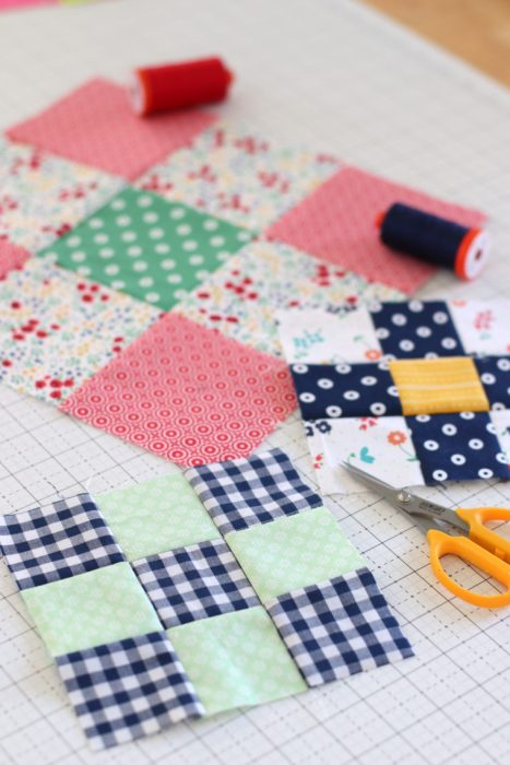Nine Patch Quilt block patterns and tutorials