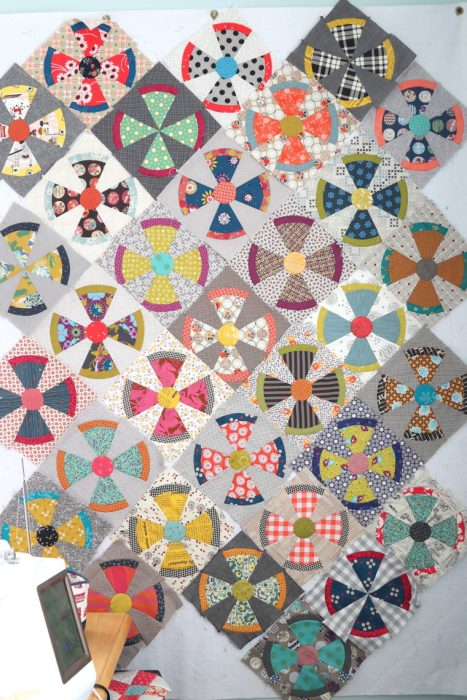 Steam Punk quilt blocks - made by Amy Smart - Pattern by Jen Kingwell
