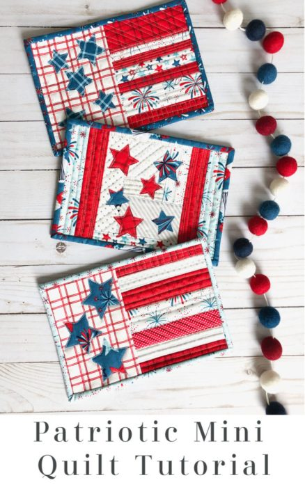 US Flag quilt as you go Mini Quilt Tutorial by Amy Chappell for Diary of a Quilter