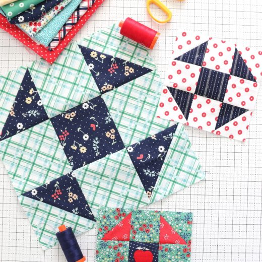 Shoo Fly Quilt Block tutorial
