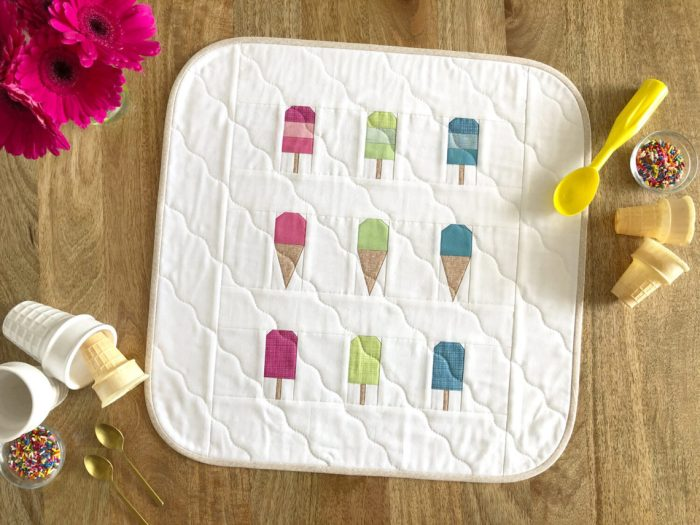 Two Scoops Ice Cream mini quilt pattern by Christopher Thompson
