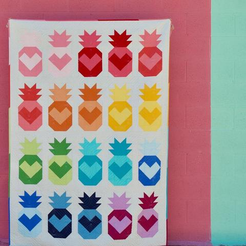 Summer-themed Quilts: Pineapple Love by Maker Valley Patterns