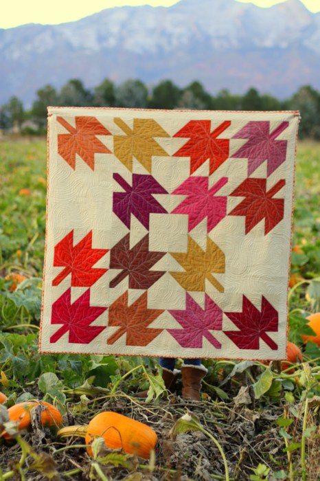 Modern Maples quilt made by Amy Smart - includes Maple Quilt Block Tutorial