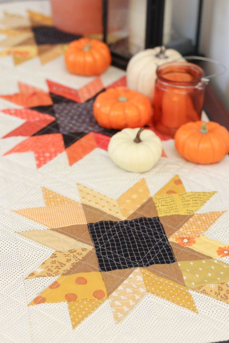 Fall Sewing: Quilted Table Runner made by Amy Smart