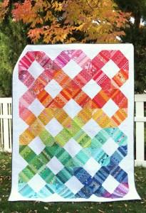 New Quilt Pattern: Scrap Happy Rainbow Connection