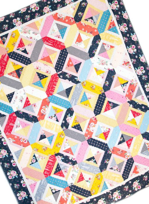 Double Crossed Quilt pattern by Amy Smart, Diary of a Quilter. Fabric is Idyllic by Minki Kim for Riley Blake Designs
